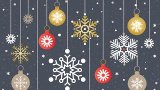 christmas baubles and icicle decorations christmas card template