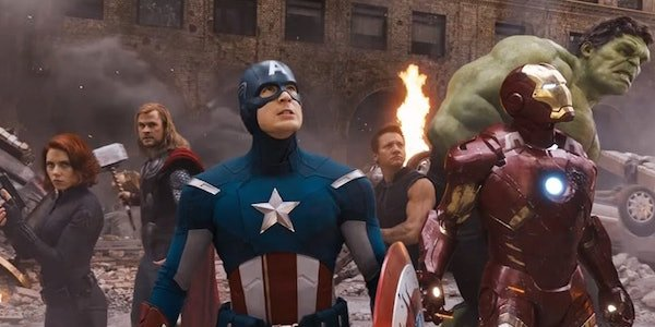 Original Avengers during Battle of New York