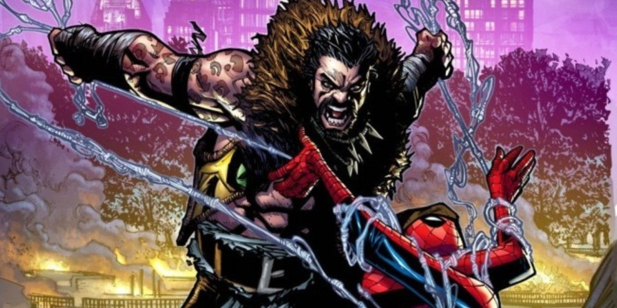 Kraven the Hunter attacking Spider-Man