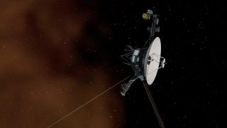 image of spacecraft Voyager 1 entering interstellar space.