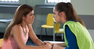 Maxine visits Sienna in prison in Hollyoaks