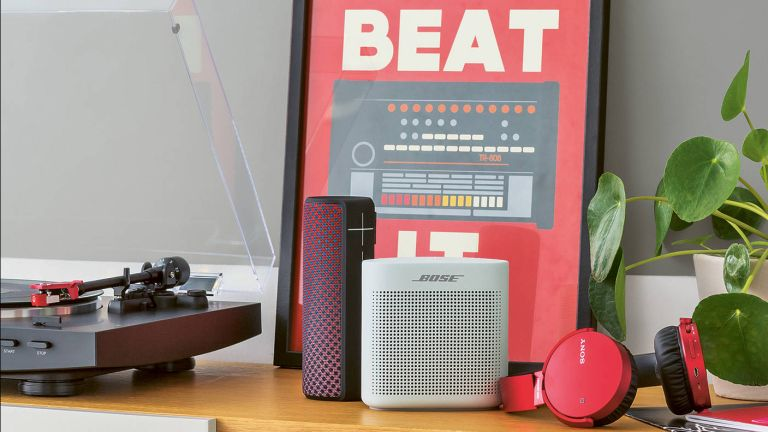 best small bluetooth speakers: bose soundlink colour 2 in styled shot available from john lewis & partners