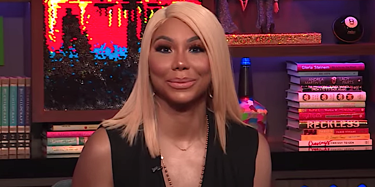 Tamar Braxton is interviewed on Watch What Happens with Andy Cohen