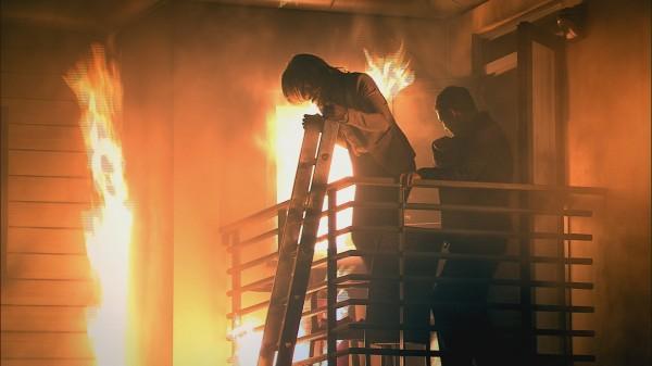 The fire on Coronation Street