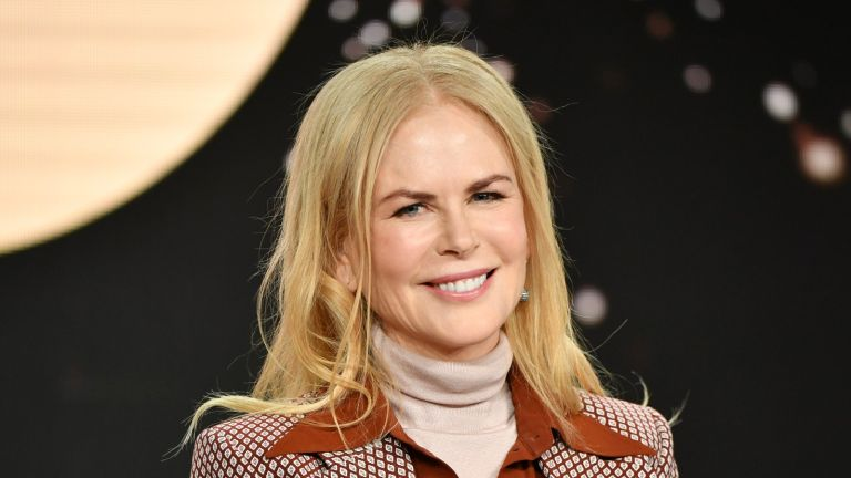 """PASADENA, CALIFORNIA - JANUARY 15: Nicole Kidman of """"The Undoing"""" speaks during the HBO segment of the 2020 Winter TCA Press Tour at The Langham Huntington, Pasadena on January 15, 2020 in Pasadena, California. (Photo by Amy Sussman/Getty Images)"""
