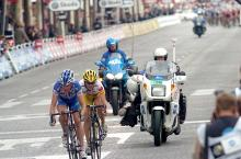 Breakaways are generally futile, in 2005 Bram Tankink and Chris Horner escaped, but were caught.
