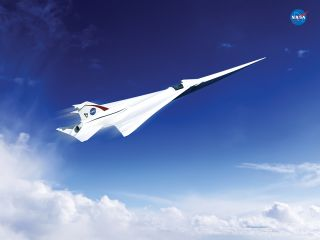 NASA concept supersonic jet.