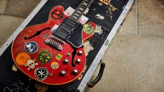 Ten Years After guitarist Alvin Lee's Modified Gibson ES-335 known as 'Big Red'