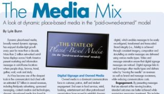 "THE MEDIA MIX: DYNAMIC PLACE-BASED MEDIA IN THE ""PAID-OWNED-EARNED"" MODEL"