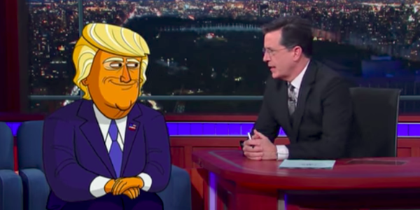 the late show stephen colbert animated donald trump
