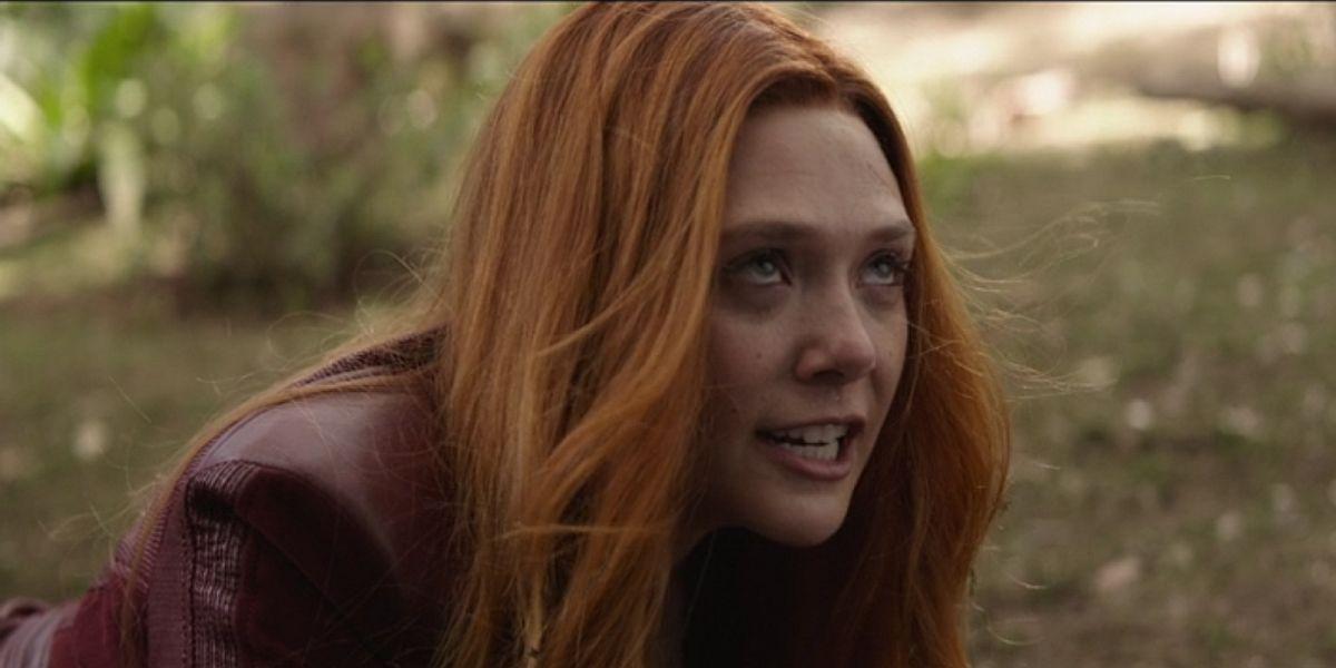 Elizabeth Solsen as Wanda Maximoff in Avengers: Infinity War