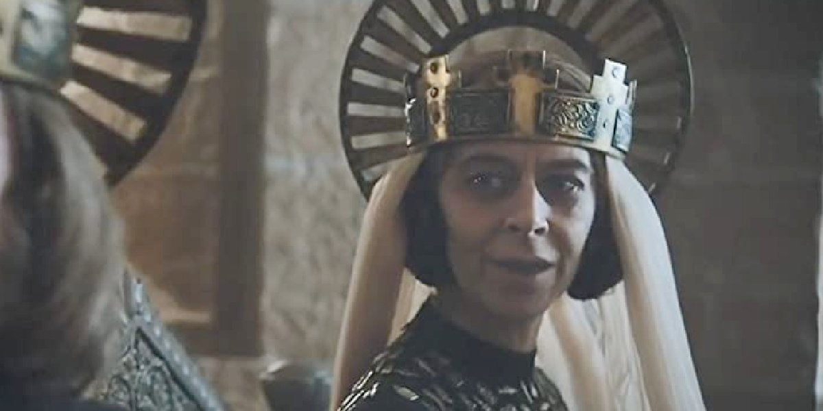 Kate Dickie in the trailer for The Green Knight.