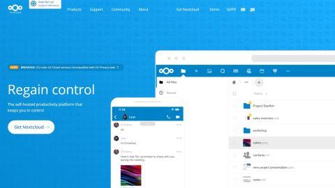 Nextcloud's homepage