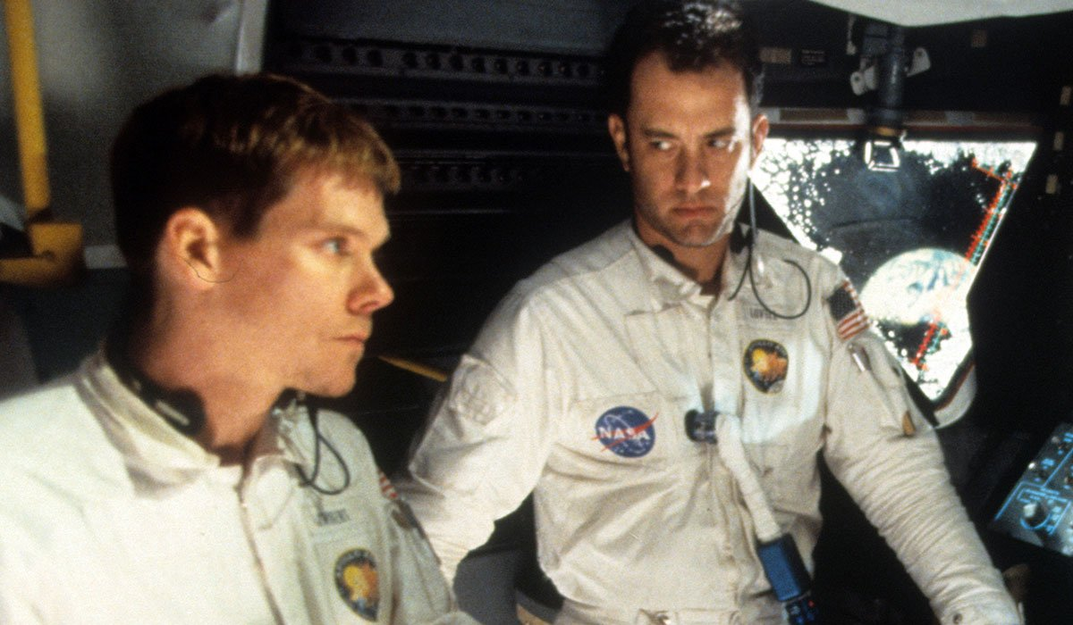 Tom Hanks And Kevin Bacon Looking Intently In Apollo 13