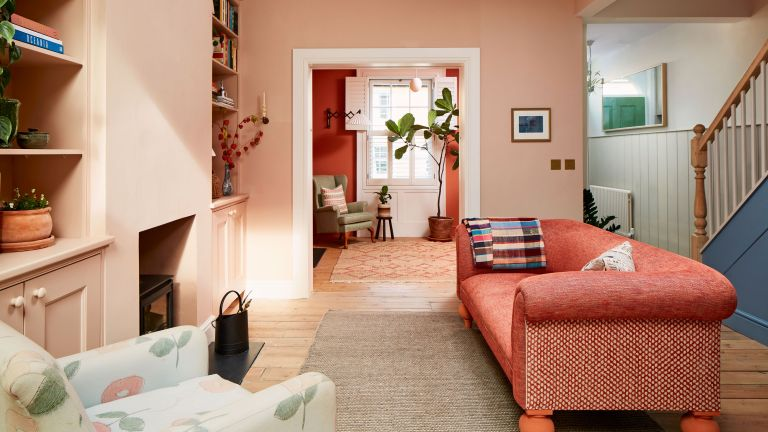 New parents Franky Ridgeon and Jack Mayhew turned a dated student house into a colourful family home