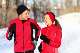 Winter Running Couple