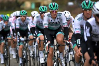 SAINT SIFFRET FRANCE FEBRUARY 06 Nils Politt of German and Team Bora Hansgrohe during the 51st toile de Bessges Tour du Gard 2021 Stage 4 a 1516km stage from Rousson to Saint Siffret 165m EDB2020 on February 06 2021 in Saint Siffret France Photo by Luc ClaessenGetty Images