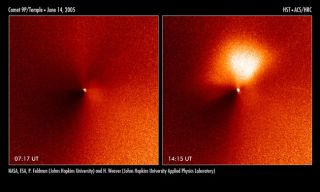 Advance Fireworks Shoot from Comet NASA Will Hit