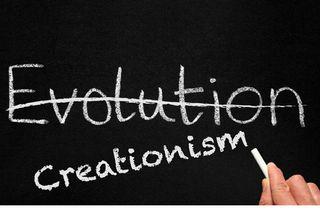 teaching evolution vs. creationism
