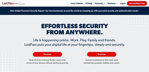 LastPass review - LastPass' website