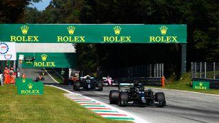 Lewis Hamilton beim Rennen in Monza während des Großen Preises von Italien
