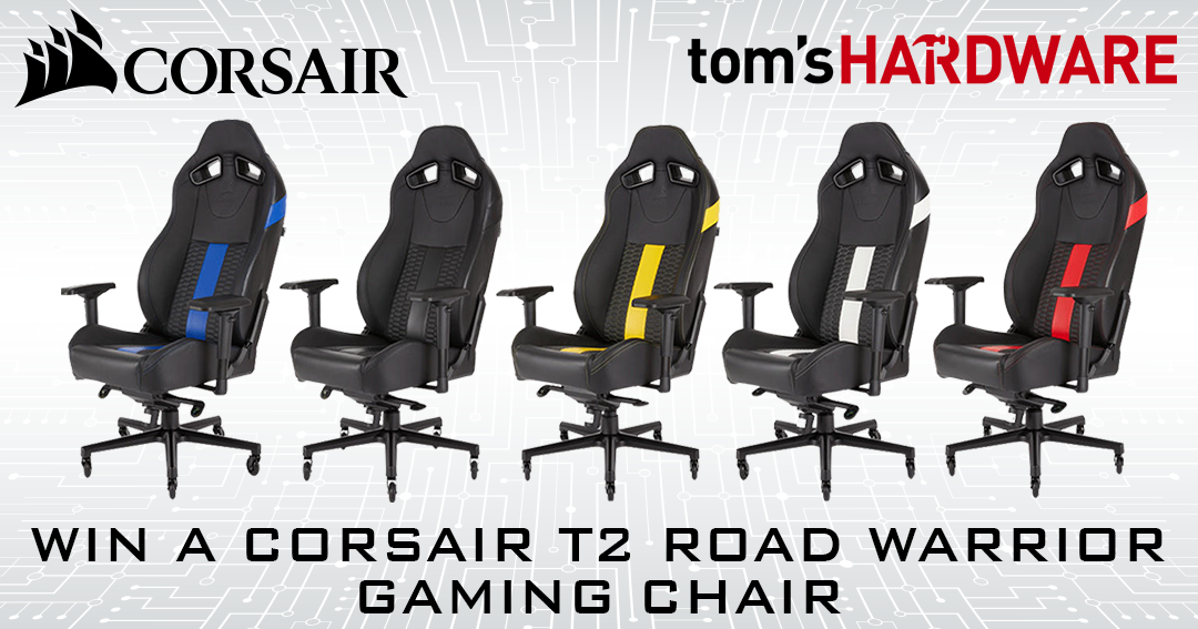 Miraculous Corsair T2 Road Warrior Gaming Chair Giveaway Toms Hardware Camellatalisay Diy Chair Ideas Camellatalisaycom