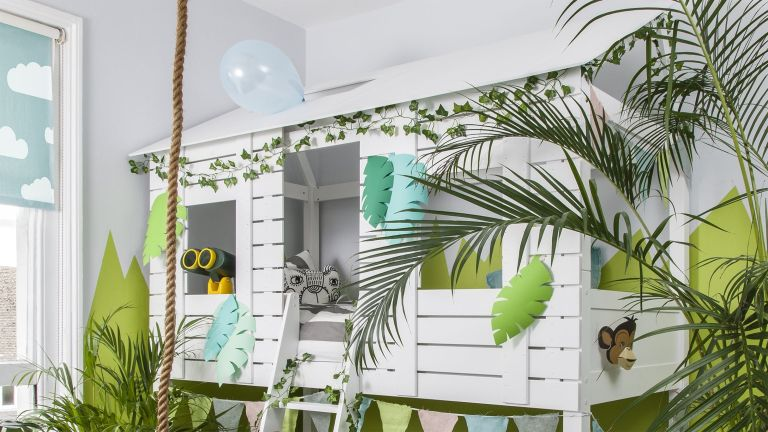 Bunk bedroom ideas: Christopher Treehouse Midsleeper Bed in Classic White by Noa and Nani