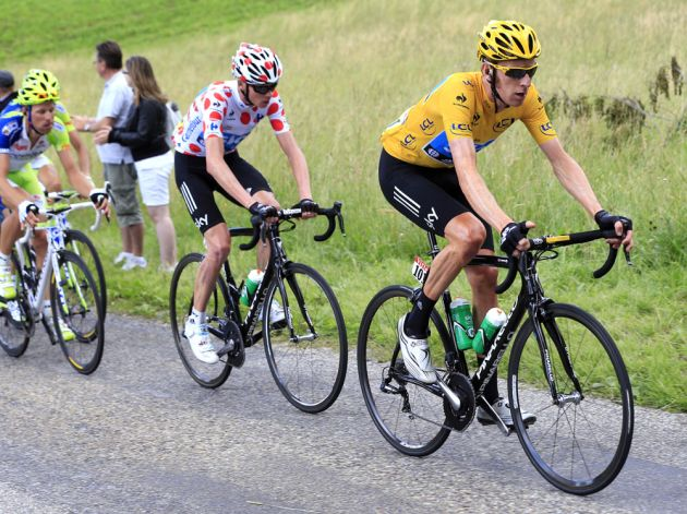 Bradley Wiggins and Chris Froome, Tour de France 2012, stage eight