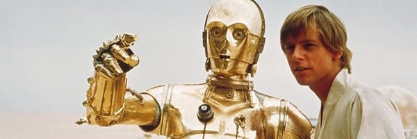 C-3PO with Luke Star Wars A New Hope