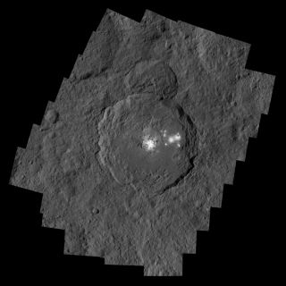 Occator Crater with Ceres' Bright Spots
