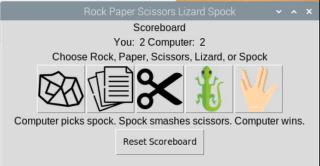 Raspberry Pi Rock Paper Scissors