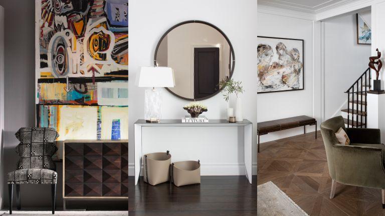 A composite of modern hallway ideas