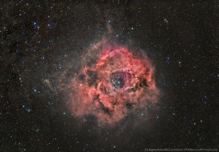 The Rosette Nebula Under A Full Moon by Terry Hancock