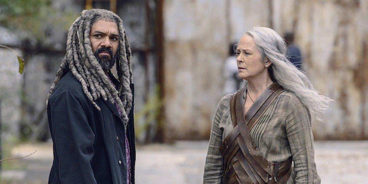 Carol and Ezekiel in The Walking Dead.