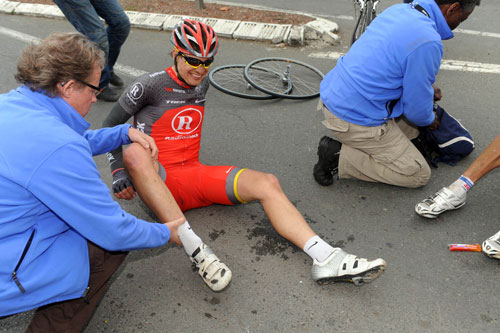 Selander crash ,Paris-Roubaix 2010