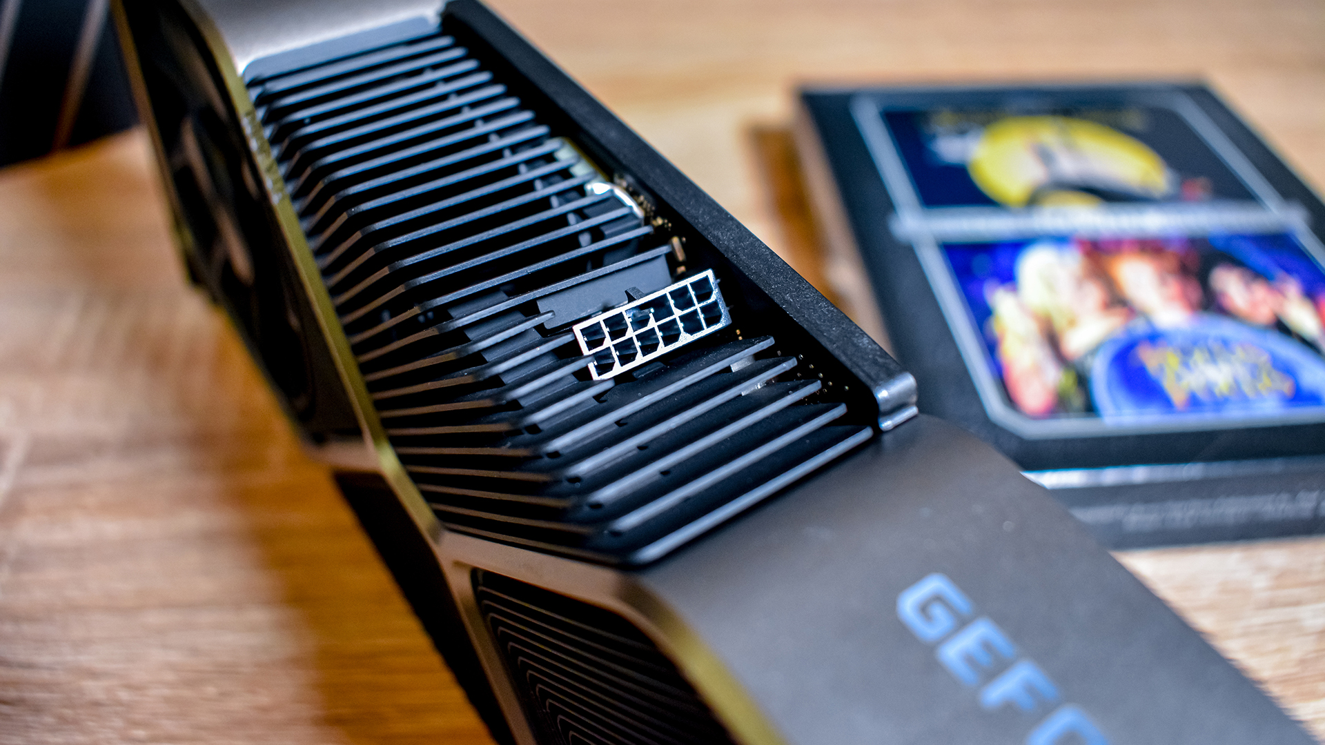 Nvidia GeForce RTX 3080 on a coffee table