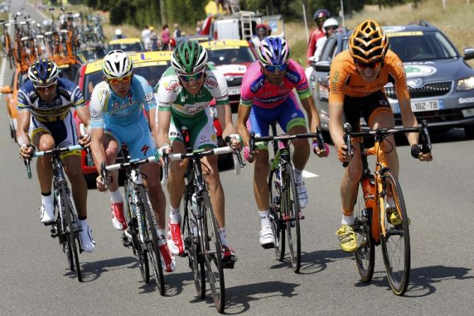 Flecha, Gavazzi, Delaplace, Mori, and Sicard made up the day's five-man breakaway