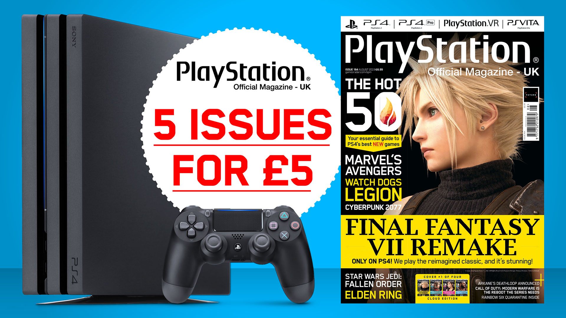 Summer sale! Get 5 issues of Official PlayStation Magazine