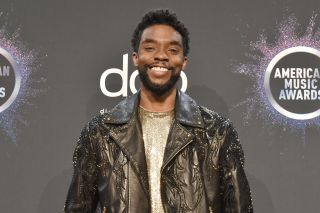 Chadwick Boseman attends the 47th Annual American Music Awards® - Press Room at Microsoft Theater on Nov. 24, 2019 in Los Angeles, California.