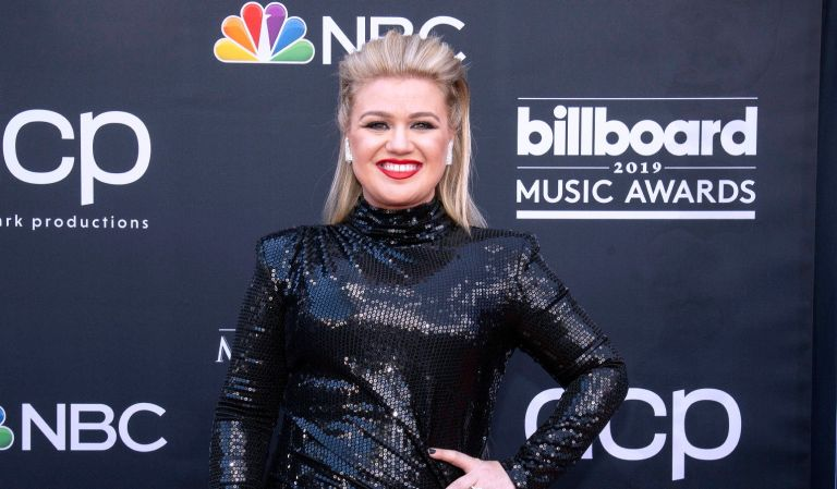 Kelly Clarkson attends the 2019 Billboard Music Award at MGM Grand Garden Arena on May 1, 2019 at MGM Grand Garden Arena in Las Vegas, Nevada.