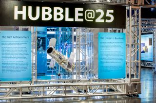Hubble@25 Exhibition at the Intrepid Sea, Air & Space Museum