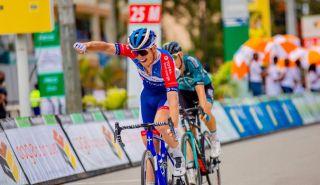 Valentin Ferron (Total Direct Energie) wins stage 4 of Tour du Rwanda
