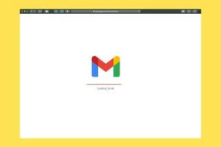 a screenshot of gmail loading