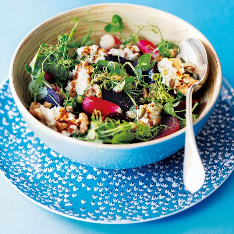 Beetroot and Ricotta Salad with Pomegranate Molasses-recipe ideas-new recipes-woman and home