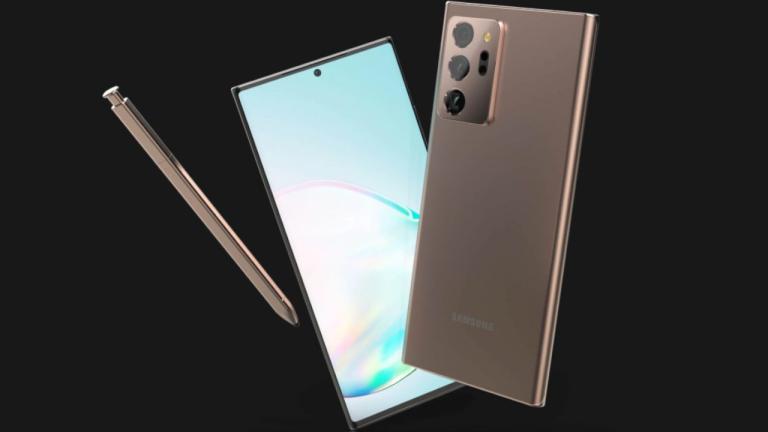Samsung Galaxy Note 20 Ultra render