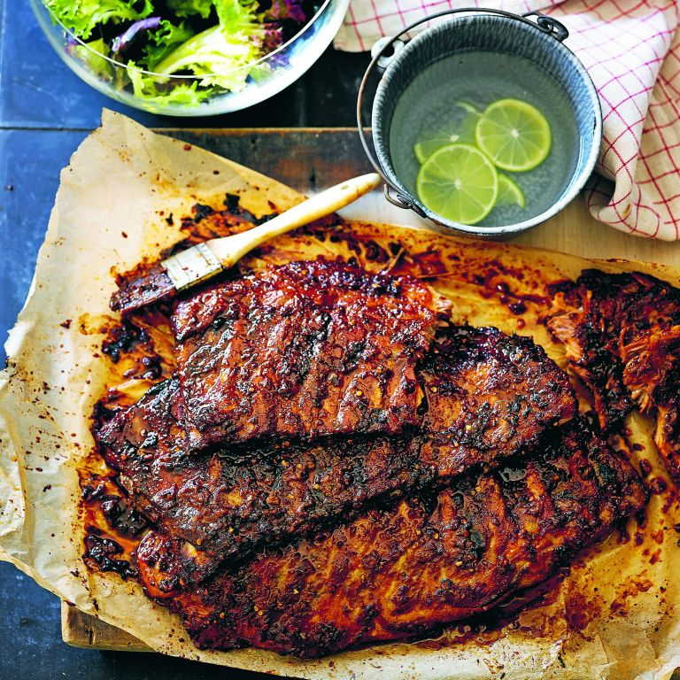 Sweet and sticky pork ribs