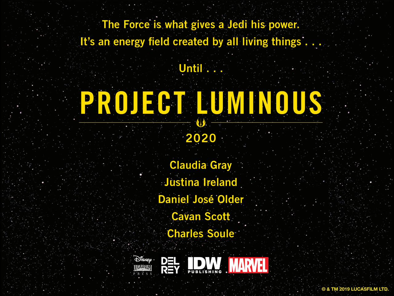 What is Project Luminous, the next big thing in Star Wars?