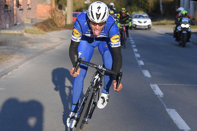 Philippe Gilbert attacks at Le Samyn