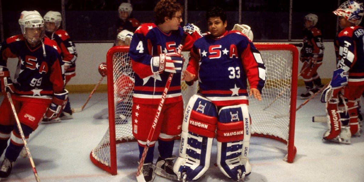 Shaun Weiss and Matt Doherty in The Mighty Ducks