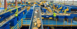 Materials recovery facility, recycling removal